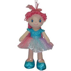Мягкая кукла  с розовыми волосами в голубой пачке, 20 см ABtoys. Цвет: pink/blau
