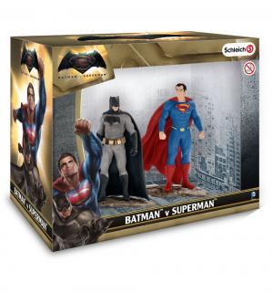 Фигурки  Лига Справедливости Бэтмен и Супермэн Schleich