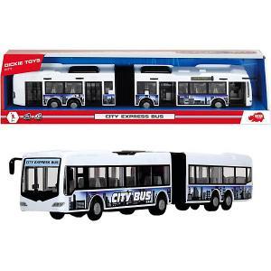 Городской автобус , фрикционный, 46 см Dickie Toys. Цвет: белый