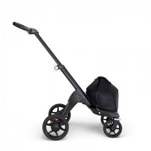 Шасси для коляски Xplory V6 Black с кожаной ручкой Stokke