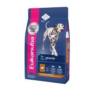Euk Dog корм для пожилых собак всех пород ягненок 12 кг. Eukanuba