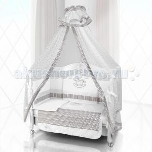 Комплект в кроватку  Unico IL Cavallo Nuvole 125х65 (6 предметов) Beatrice Bambini