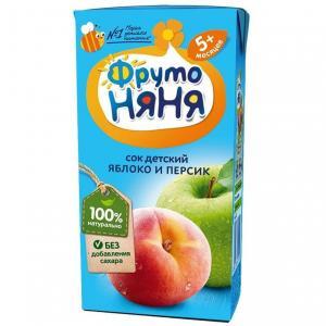Восстановленный сок  яблоко-персик, 200 мл ФрутоНяня