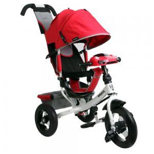 Трехколесный велосипед  Comfort 12x10 AIR Car 2, цвет: красный Moby Kids