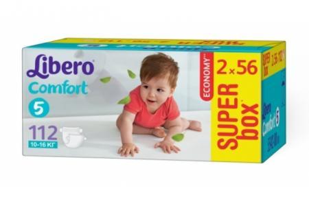 Подгузники Comfort Size 5 (10-16кг), 112 шт. Libero