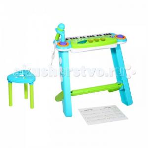 Музыкальный инструмент  Синтезатор с микрофоном и стулом Music Spaceship 37 клавиш 602A Potex
