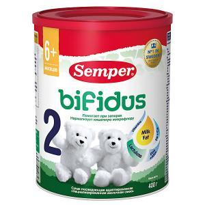 Молочная смесь  bifidus 2, с 6 мес, 400 г Semper