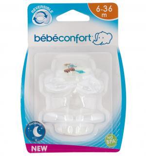 Пустышка  ортодонтическая ночная силикон, с 3 мес Bebe confort