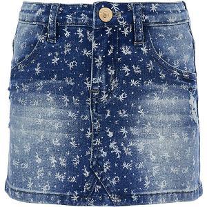 Юбка джинсовая  для девочки Button Blue. Цвет: синий