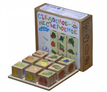 Деревянная игрушка  Логическая игра Съедобное-Несъедобное Краснокамская