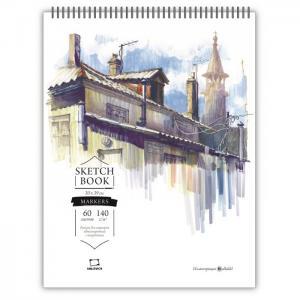 Скетчбук для маркеров Sketch 30х39 60 листов Малевичъ