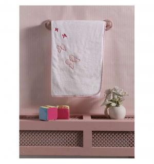 Плед  Sweet Flowers 90 х 80 см, цвет: белый/розовый Kidboo