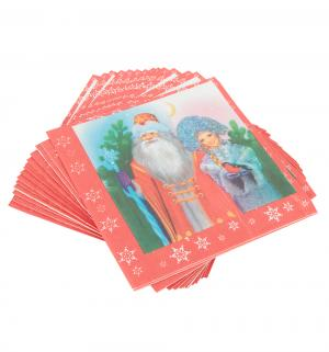 Бумажные салфетки  Дед Мороз и Снегурочка 20 шт 33 х см Патибум