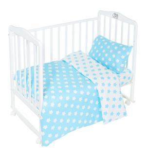 Комплект постельного белья  Stelle Turchese, цвет: бирюзовый 3 предмета пододеяльник 140 х 110 см Sweet Baby