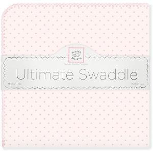 Фланелевая пеленка  Pink Dot, 110х110 см SwaddleDesigns. Цвет: розовый