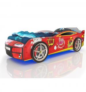 Кровать-машинка  Kiddy Бум, цвет: красный Romack