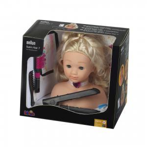 Модель для причесок с утюжком волос, BRAUN klein