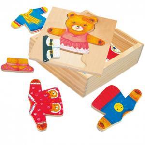 Деревянная игрушка  Пазл Гардероб медведицы Bino