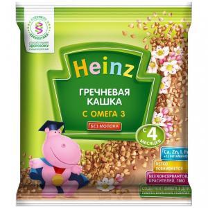 Каша  безмолочная гречневая с омегой-3 4 месяцев 30 г Heinz