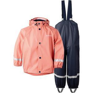 Комплект Didriksons: куртка и полукомбинезон DIDRIKSONS. Цвет: коралловый