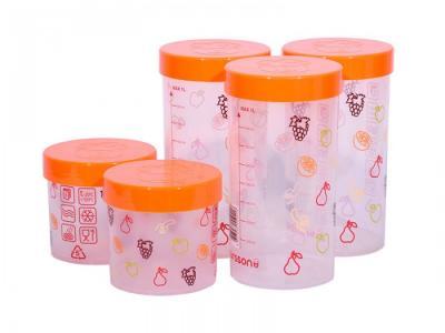 Набор eмкостей для жидких и сыпучих продуктов 5 шт. JA55173 Oursson