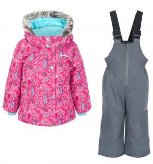 Комплект куртка/полукомбинезон , цвет: голубой/розовый Zingaro By Gusti