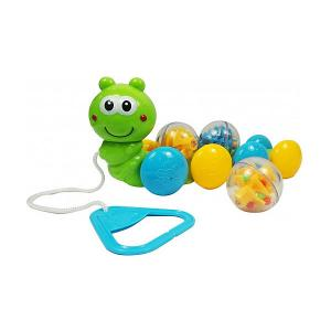 Игрушка-каталка  Гусеница с шариками Bebelino. Цвет: разноцветный