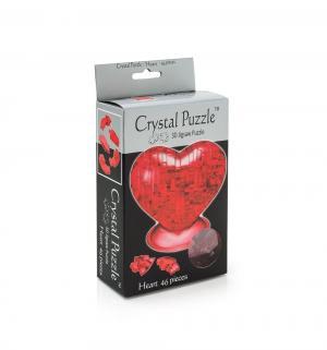 Головоломка 3D  Сердце красное цвет: красный Crystal Puzzle
