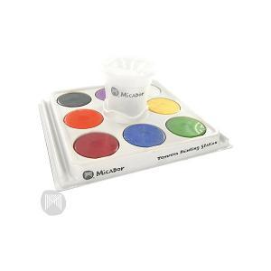 Набор для рисования : паллетка, стакан, гуашевая краска 8 шт Micador. Цвет: разноцветный