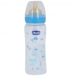 Бутылочка  Wellbeing Boy полипропилен с 4 мес, 330 мл, цвет: голубой Chicco