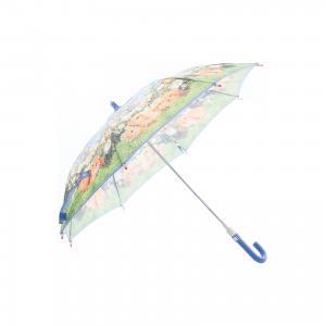 Зонт-трость, детский, , со светодиодами, рисунок Кролики Zest. Цвет: синий/зеленый