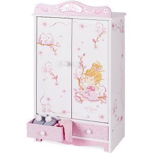 Гардеробный шкаф  для куклы, серия Мария DeCuevas. Цвет: розовый/белый