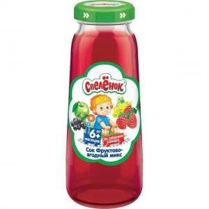 Сок  фруктово-ягодный микс, 200 мл Спеленок