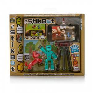 Игровой набор  Stikbot Студия с питомцем, Человечек красной собакой Zing