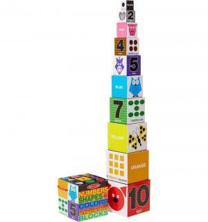 Кубики  Первые навыки Цифры. формы и цвета. блоки Melissa&Doug
