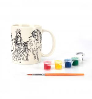 Керамическая кружка для росписи  Феи и единороги Multiart