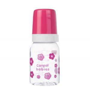 Бутылочка  тритан с 3 мес, 120 мл, цвет: розовый Canpol