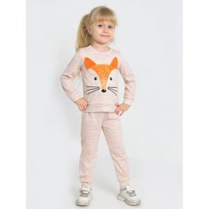 Костюм для девочки с шелкографией (джемпер, брюки) Лисёнок-1 Ивашка
