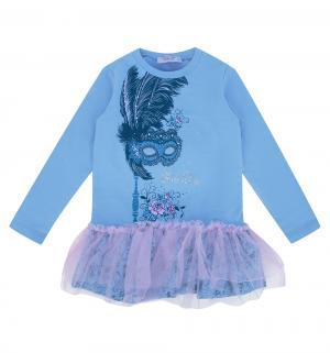 Платье  Весенние цветы, цвет: голубой Free Age