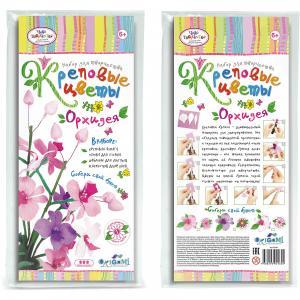 Креповые цветы своими руками Орхидея 3 цвета. Чудо-Творчество