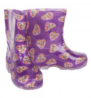 Резиновые сапоги , цвет: фиолетовый Каури