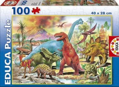 Пазл Динозавры 100 деталей Educa
