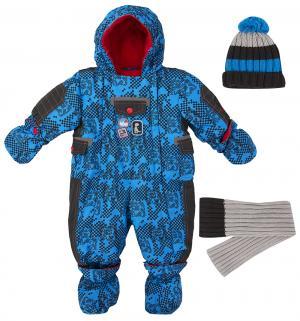 Комплект комбинезон/шапка/шарф , цвет: синий Gusti Boutique