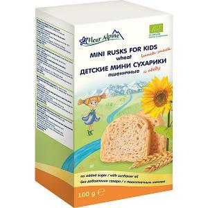 Детские мини-сухарики  пшеничные, с 3 лет Fleur Alpine