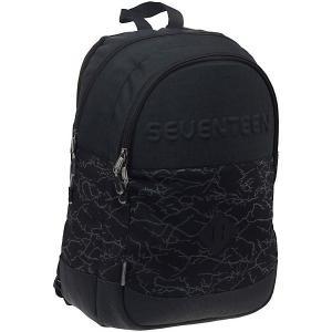 Рюкзак Seventeen, 43х30х17 см Kinderline. Цвет: черный джинсовый