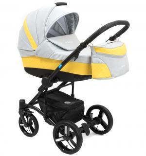 Коляска 3 в 1  West-East Premium, цвет: жёлтый перфорированный/светло-серый Mr Sandman