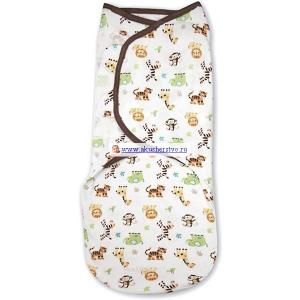 Пеленка  Swaddleme Конверт для пеленания на липучке с аппликацией Summer Infant