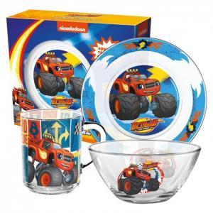 ND Play Набор посуды из стекла Вспыш и чудо-машинки Трек 2.0 (3 предмета)