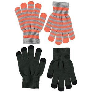 Перчатки , 2 пары Molo. Цвет: темно-зеленый