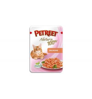 Влажный корм  для взрослых кошек, лосось, 85г Petreet